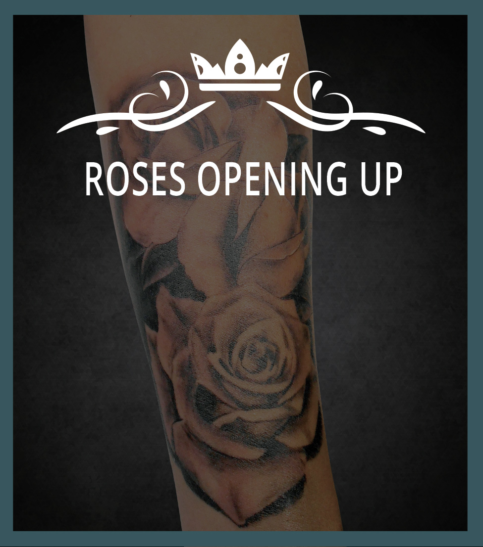 Nice Sorry Mom Tattoo: Rose Opening Up Tattoo